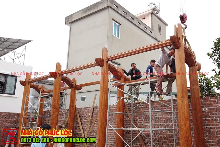 Quá trình lắp dựng nhà gỗ cổ truyền Bắc Bộ