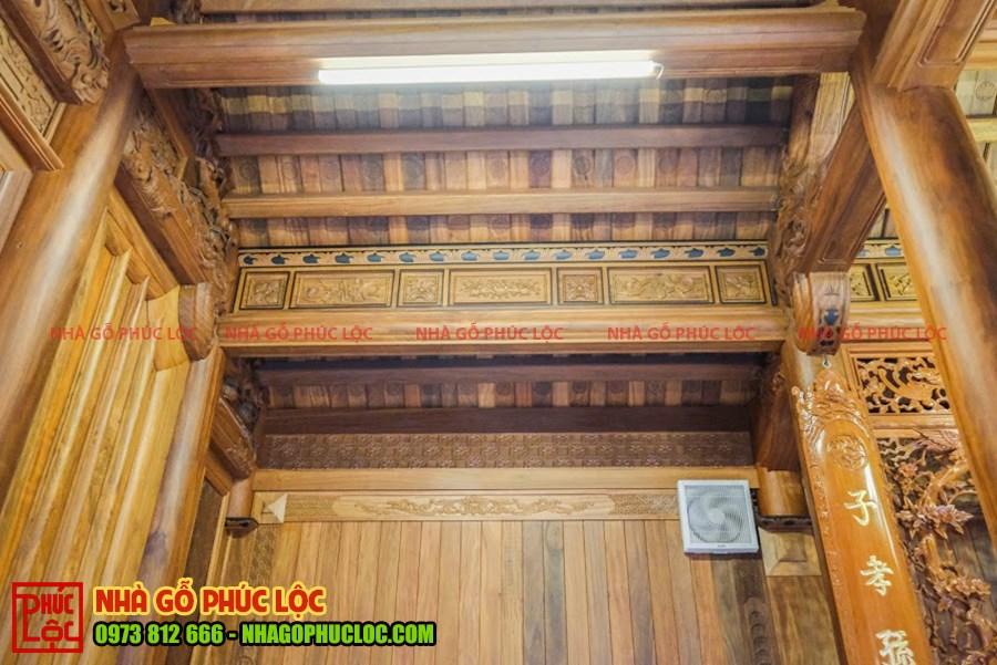 Hệ thống ánh sáng của ngôi nhà gỗ
