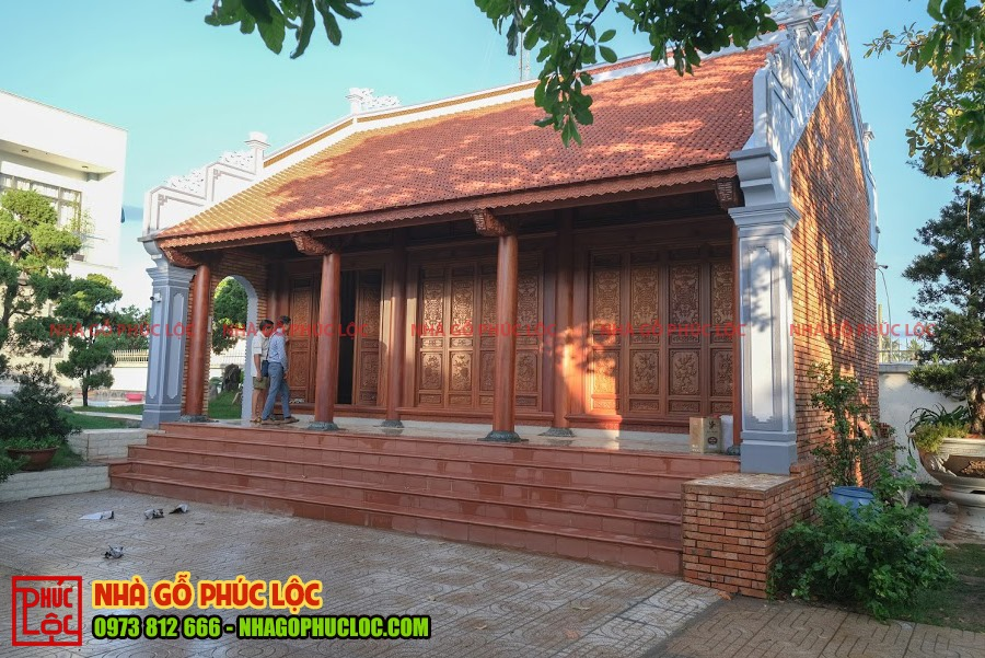 Tổng thể công trình nhà gỗ 3 gian